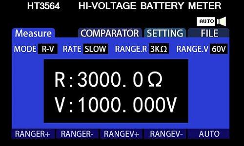3564 10μV~1000V 3564 Battery Tester Operation Interface