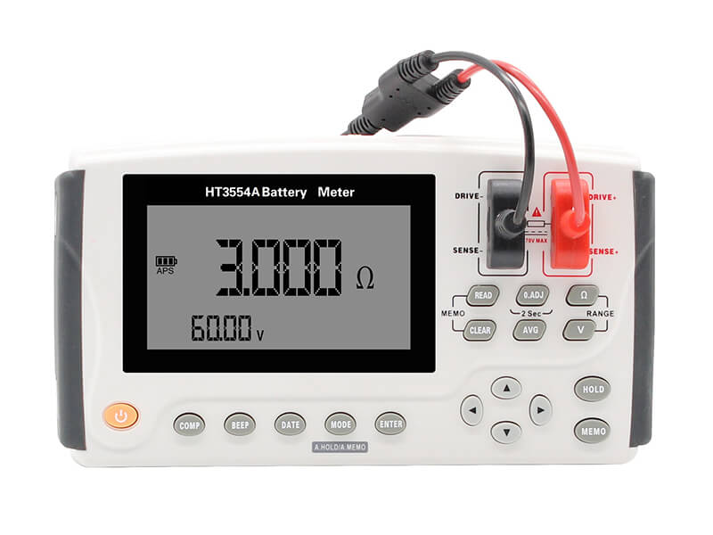 3554A Portable Battery Tester front panel