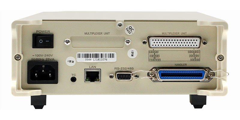 HT3544-12 multi-channel DC reistance meter rear veiw